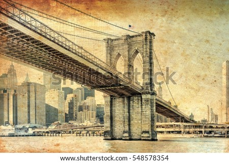 manhattan bridge in new york...