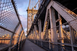 Manhattan Bridge in New York. USA
