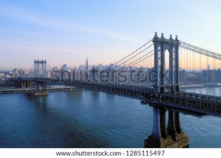 Manhattan Bridge, Manhattan, New York, USA. #1285115497