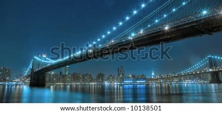 Manhattan bridge, New york,United states of America - stock photo