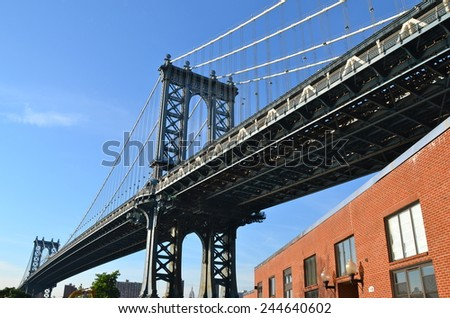 Manhattan Bridge, New York, USA #244640602