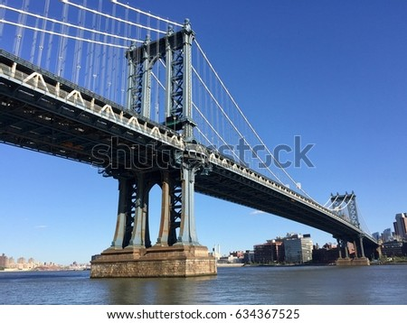 Manhattan bridge over East river #634367525