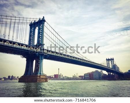 manhattan bridge over the east...