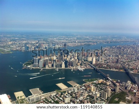 Manhattan from above - aerial view