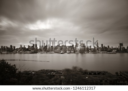 Manhattan midtown skyscrapers and New York City skyline  #1246112317