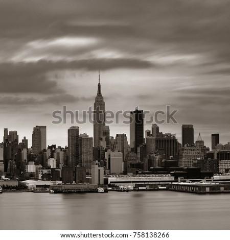 Manhattan midtown skyscrapers and New York City skyline  #758138266