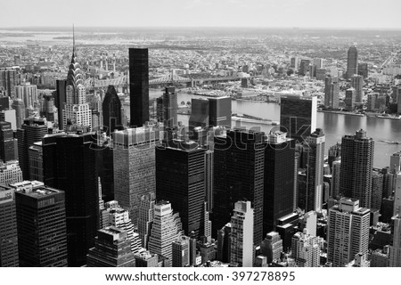 manhattan midtown view with big ...