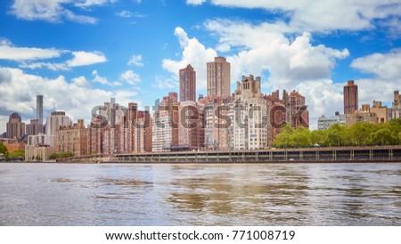 Manhattan Midtown waterfront, New York, USA. #771008719