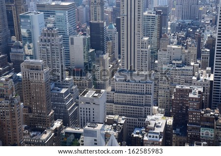 Manhattan Modern Architecture Aerial View in New York , USA