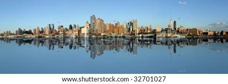 Manhattan panoramic Skyline, New York city