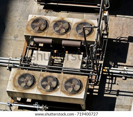 Manhattan Rooftop Air Conditioning Units #719400727