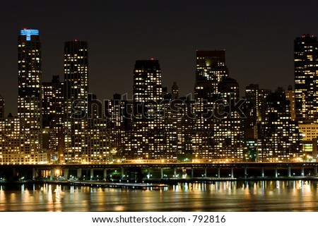 Manhattan's East side living - stock photo