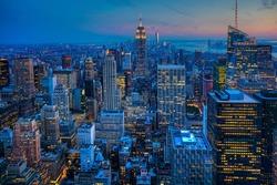 Manhattan Skyline after dark