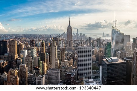 Manhattan skyline at sunset, New York City #193340447