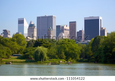 Manhattan skyline behind Central Park, New York City