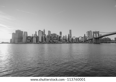 Manhattan Skyline, New York City from Brooklyn