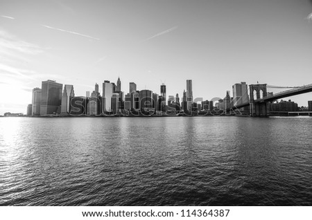 Manhattan Skyline, New York City from Brooklyn