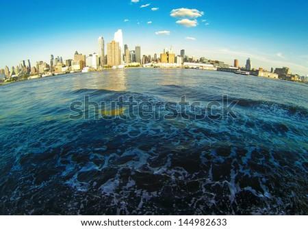 Manhattan Skyline on Hudson #144982633