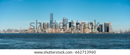 Manhattan Skyline over Hudson River, New York City, USA #662713960