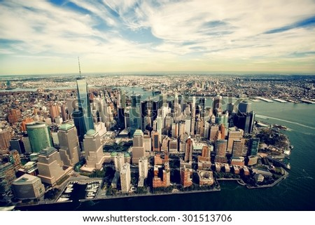 manhattan view from the air #301513706