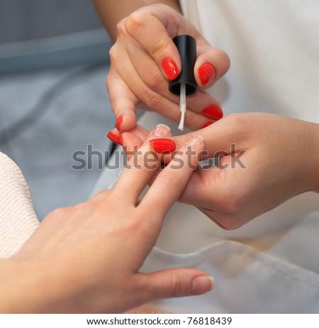 Manicure. Drawing basics