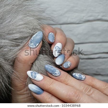 Manicure frozen love #1034438968