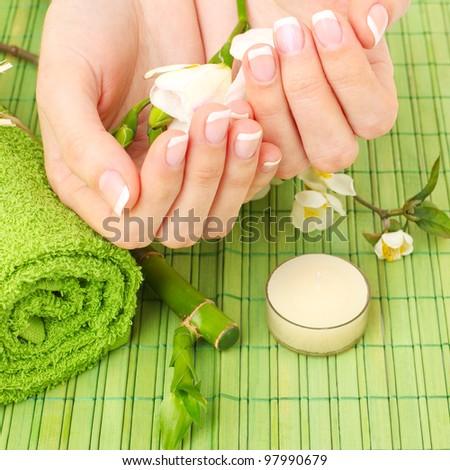 Manicure - hands spa, beauty salon