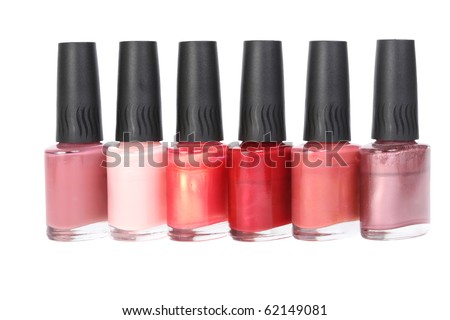Manicure Nail Polish isolated on a white background