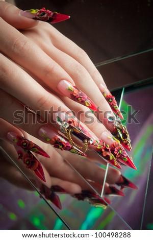 manicure of beautiful hands