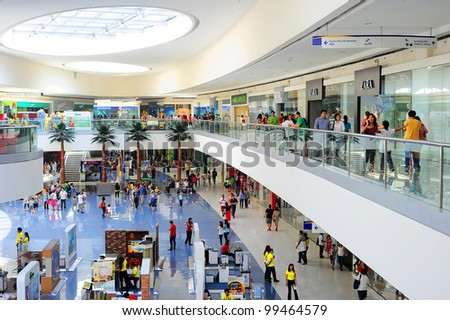 MANILA - APRIL 03: SM Mall of Asia (MOA) is  a 2nd largest mall in the Philippines on April 03, 2012 in Manila. It has a land area of 42 hectares and has gross floor area of an approximate 390,193 m�²