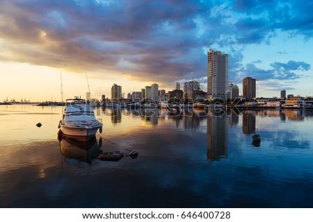 Manila bay sunsets #646400728