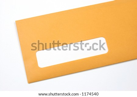 stock photo : Manila envelope with a blank address space