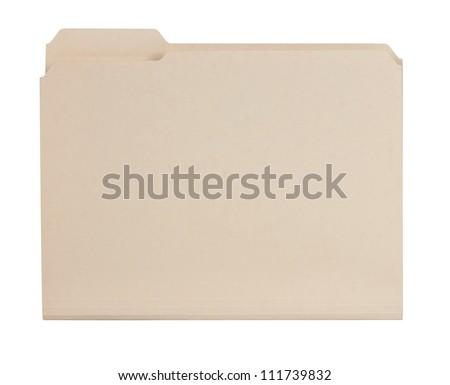 Manila folder - stock photo