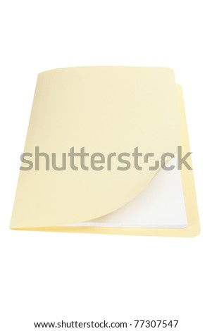 Manila Folder on White Background