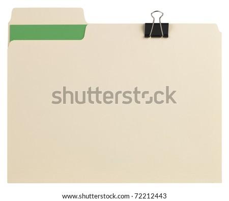 Manila folder with path