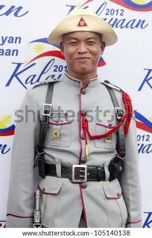 MANILA - JUNE 12: Philippines Soldier at The Philippines Independence day on June 12, 2012  in Manila. The Philippines celebrate the 114th Independence Day.