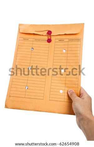 Manila Paper File Envelope close up