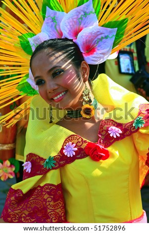 MANILA, PHILIPPINES 24:Aliwan Festival, a yearly parade that features the cultural festivals that could be found in the country, this year's main event was held on April 24, 2010 Manila, Philippines.