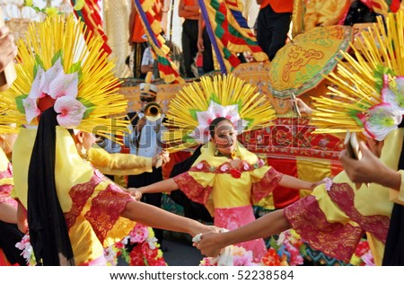 MANILA, PHILIPPINES – APRIL 24: Street dancer showcase Filipino culture & tradition in The Aliwan Fiesta on April 24, 2010 in Manila. The Aliwan celebrated with annual street dance competition