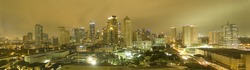 Manila Philippines skyline at night