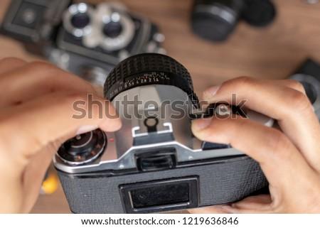 Manipulating photographic camera #1219636846