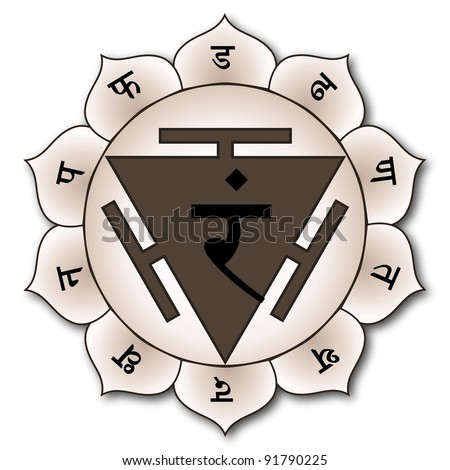 Manipura chakra is shown as having ten petals. They correspond to the vrittis of spiritual ignorance, thirst, jealousy, treachery, shame, fear, disgust, delusion, foolishness and sadness.