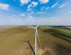 Mankind's step into the future, the great invention of mankind - the wind turbine