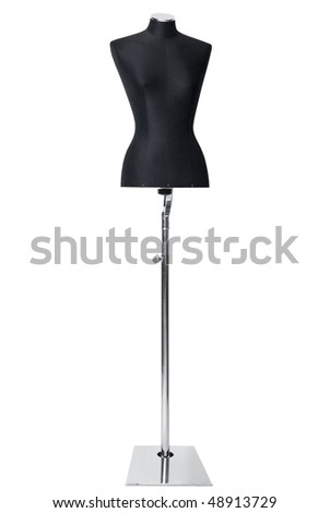 mannequin isolated on white - stock photo