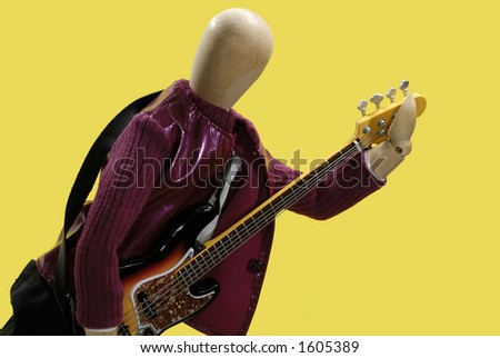 Mannequin Playing a Fender Guitar