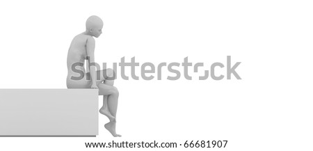 mannequin sitting on a bench