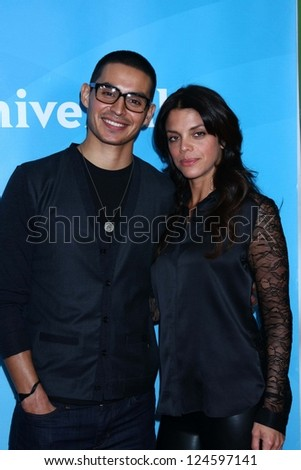 "Manny Montana, Vanessa Ferlito at NBCUniversal's ""2013 Winter TCA Tour"" Day 2, Langham Huntington Hotel, Pasadena, CA 01-07-13"