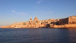 Manoel Island Malta, Historical Doom, Sea view of Island