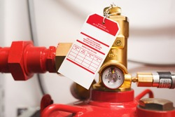 Manometer of clean agent fire suppression system used in data centers,  backup battery rooms, electrical rooms (under 400 volts), sub-floors or tape storage libraries.