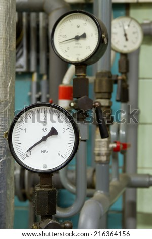 Manometer pressure in the boiler room #216364156